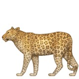 Leopard walking emoji