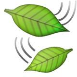 Two leaves in the wind emoji
