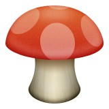 Red mushroom emoji