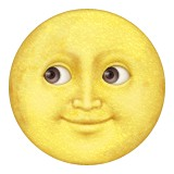 Moon with face looking to right emoji