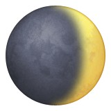 Waxing crescent moon emoji