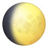 Waxing gibbous moon emoji