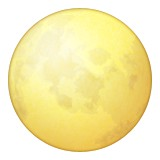 Full moon emoji