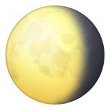 Waning gibbous moon emoji