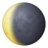 Waning crescent moon emoji
