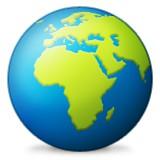 Europe and Africa globe emoji
