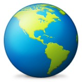 Americas globe emoji