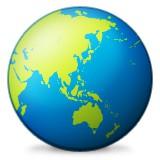 Asia and Australia globe emoji