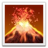 Volcano erupting emoji