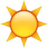 Sun with rays emoji