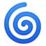 Blue swirl emoji