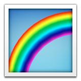 Part of a rainbow emoji