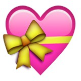 Pink heart with ribbon emoji