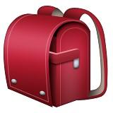 Red backpack emoji