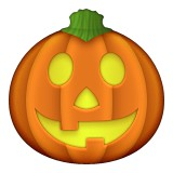 Pumpkin with face emoji