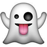 Ghost with tongue out emoji