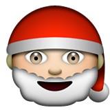 Santa face emoji