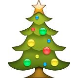 Christmas Tree with ornaments emoji