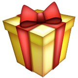Wrapped present in box emoji