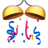 Confetti bells emoji