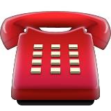 Red telephone emoji
