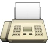 Fax machine emoji