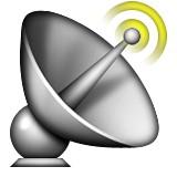 Satellite with beams emoji