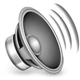 Speaker with sound waves emoji