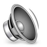 Speaker with sound wave emoji