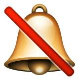 Bell with no sound emoji