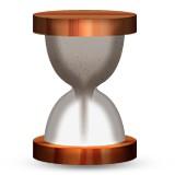 Hourglass with sand going to bottom emoji