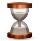 Hourglass that is half and half emoji
