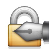 Padlock with pen emoji