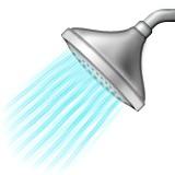 Shower head with water emoji