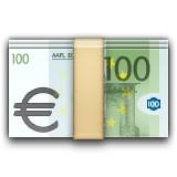 Money with Euro emoji