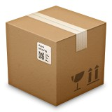 Cardboard package emoji