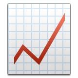 Line graph with upwards trend emoji