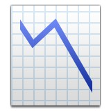 Line graph with downwards trend emoji