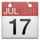 Calendar with July 17th emoji
