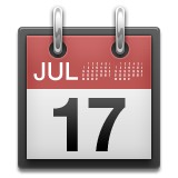 Tear off calendar with July 17th emoji