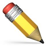Pencil emoji