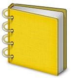 Notebook with binder rings emoji