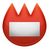 Red name badge emoji