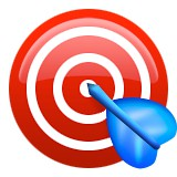 Bulls eye with arrow emoji