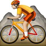 Mountain bicyclist emoji