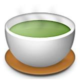 Tea with steam emoji