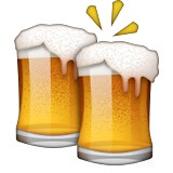 Two beer mugs cheers emoji
