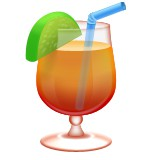 Tropical drink with straw emoji