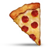 Slice of pepperoni pizza emoji