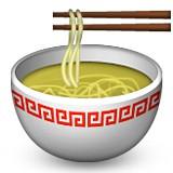 Noodle soup with chopsticks emoji